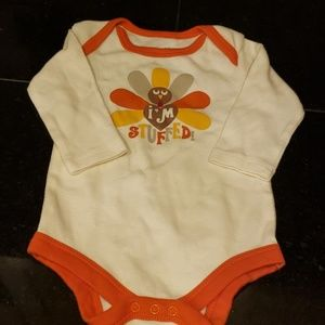 Long sleeve Thanksgiving onesie 0-3 month